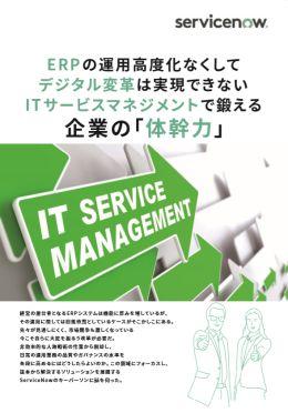ERPの運用高度化なくしてデジタル変革は実現できない ITサービスマネジメントで鍛える企業の「体幹力」